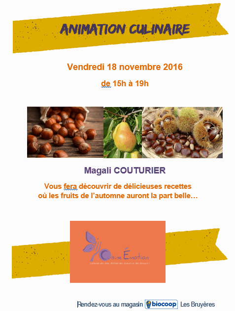 Animation culinaire d'automne !